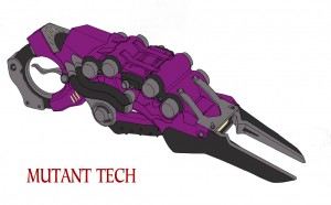 Mutant gun 1. Weapon concept not used for ThunderCats the new animated series. (Dan Norton Feb 2013)