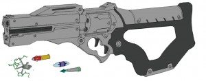 Mutant gun 4. Another weapon concept not used for ThunderCats. (Dan Norton Feb 2013)