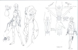 Pumyra concept. Here is the overall view of the concept for the show. (Dan Norton Apr 2012)