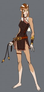 Pumyra new design. Here is the new concept art for Pumyra for ThunderCats. I made some changes to her hair because it felt to 50's earth-like. But I tried to save as much as possible. There is a fold out crossbow on the reverse of her forearm band, but you'll have to wait to see it. (Dan Norton Apr 2012)