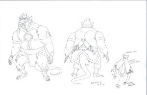 Ratar-O concept. Here is the basic line art for Ratar-O from the new series ThunderCats. (Dan Norton May 2012)