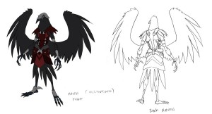 Ravenmen concept 1. Here are the foot soldiers for Vultaire's army in Avista in ThunderCats. (Dan Norton Jun 2012)