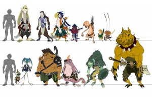 Swordtown Creatures. These were the concepts of the inhabitants of the swordtown in Episode 8 of ThunderCats. I did a quick flat pass on the color to give the colorist an understanding of what I was looking for. It also helps to define the designs.