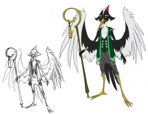 The Judge. This guy is the one who passes judgement over Addicus during his execution. The idea was based off a woodpecker. (Dan Norton Mar 2012)