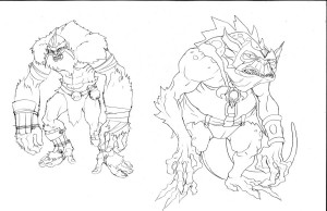 Here are the line versions of Addicus and Slithe. Download it and try coloring it yourself. I'd love to see what you do with it! (Dan Norton Feb 2012)