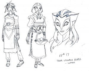 Tiger women. Here are a few of the female villagers from the Tiger Clan from episode 17 of the new ThunderCats series. (Dan Norton Apr 2012)