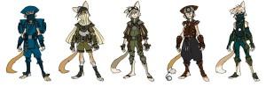 WilyKat costume alts. Wilykat also had some costume alts. Again, all digital, very quick and simple. (Dan Norton Jun 2012)